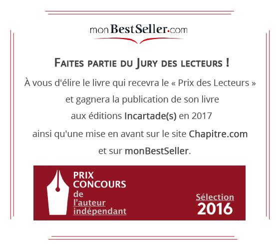 Prix Concours monBestSeller de l'Auteur indépendant 2016